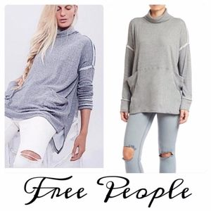 We The Free Grey Turtleneck Workout Sweater Sz.XS